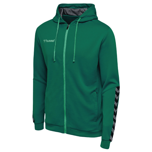 AUTHENTIC POLY ZIP HOODIE - Evergreen