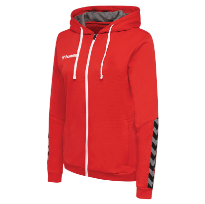 AUTHENTIC POLY ZIP HOODIE - True Red