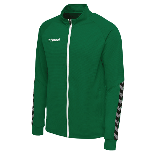 AUTHENTIC POLY ZIP JACKET - Evergreen