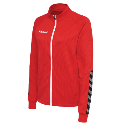 AUTHENTIC POLY ZIP JACKET - True Red