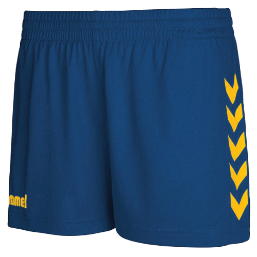CORE WOMENS SHORTS - True Blue/Sports Yellow