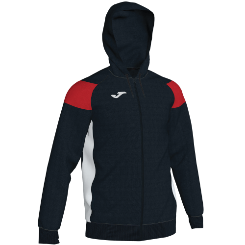 CREW III HOODED  TOP - Black/Red