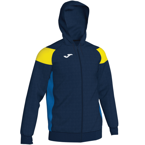 CREW III HOODED  TOP - Dark Navy/Yellow