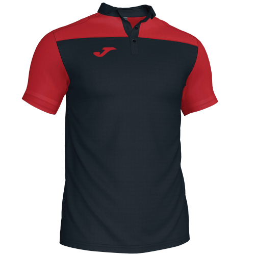 CREW III POLO - Black/Red
