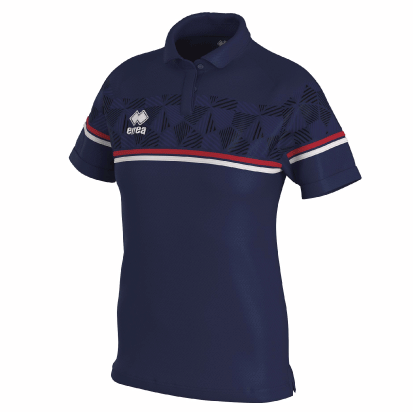 DARYA POLO - Navy/Red/White