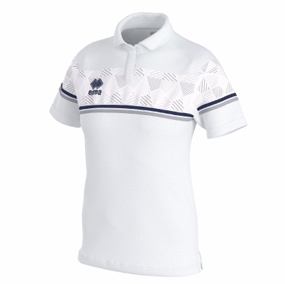DARYA POLO - White/Navy/Grey