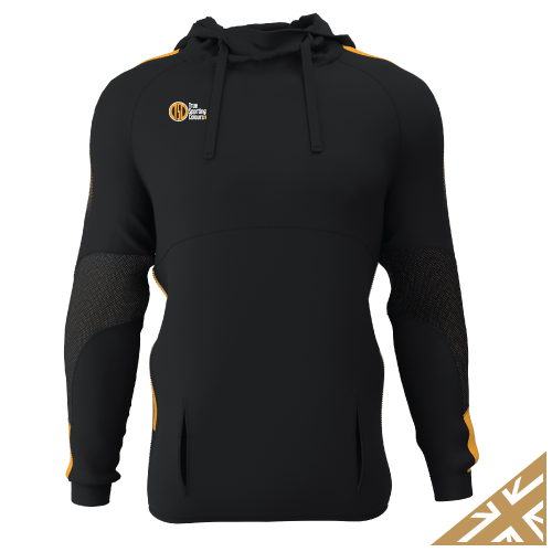 DNA PRO POLY HOODIE - Black/Amber