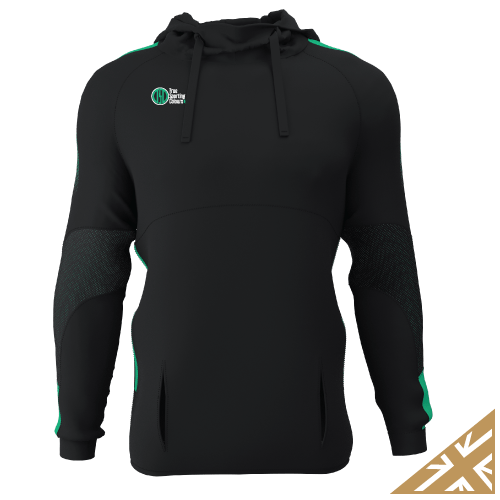 DNA PRO POLY HOODIE - Black/Emerald
