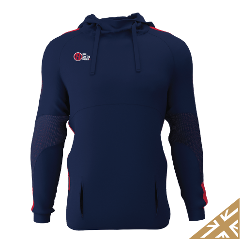DNA PRO POLY HOODIE - Navy/Red