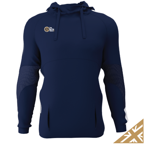 DNA PRO POLY HOODIE - Navy/White