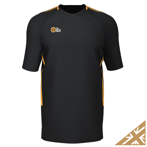 DNA PRO TRAINING TEE - Black/Amber