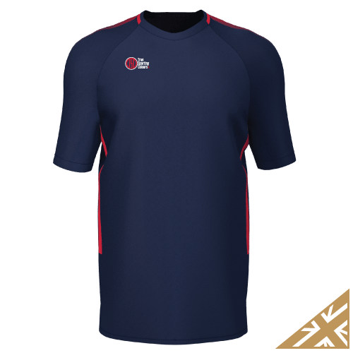 DNA PRO TRAINING TEE - Navy/Red