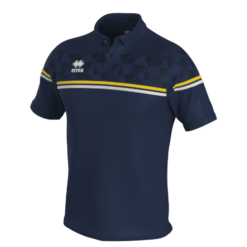 DOMINIC POLO - Navy/Yellow/White