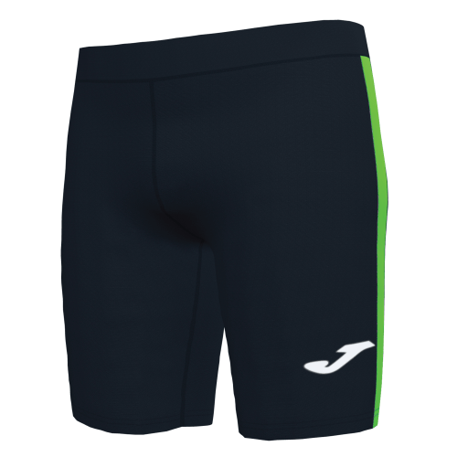 ELITE VII LINE SHORT TIGHT - Black/Fluor Green