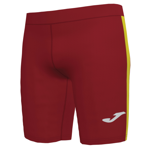 ELITE VII LINE SHORT TIGHT - Red/Yellow