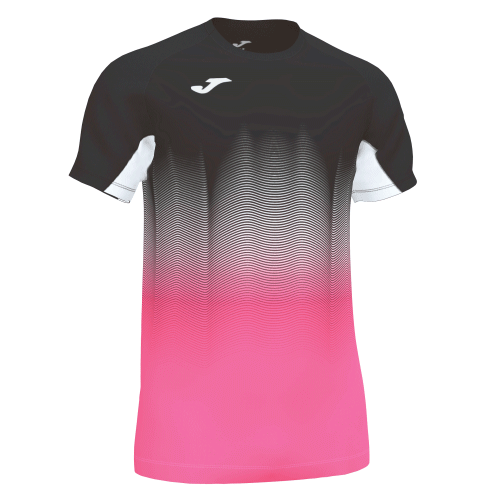 ELITE VII LINE T-SHIRT - Black/White/Pink Fluor