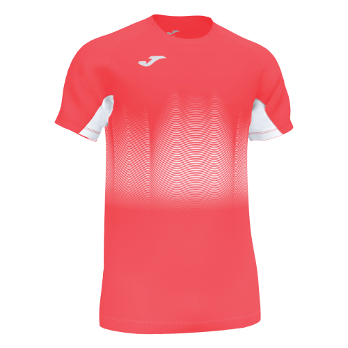 ELITE VII LINE T-SHIRT - Coral Fluor/White/Black