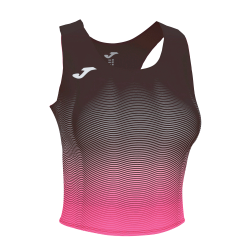 ELITE VII LINE TANK TOP - Black/White/Pink Fluor