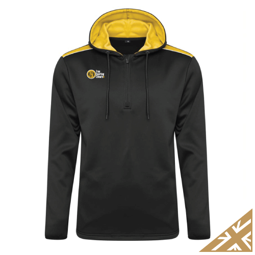 HELIX HOODED SWEATSHIRT - Black/Amber