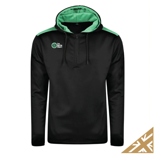 HELIX HOODED SWEATSHIRT - Black/Emerald