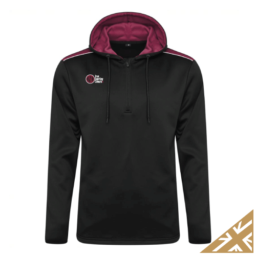 HELIX HOODED SWEATSHIRT - Black/Maroon
