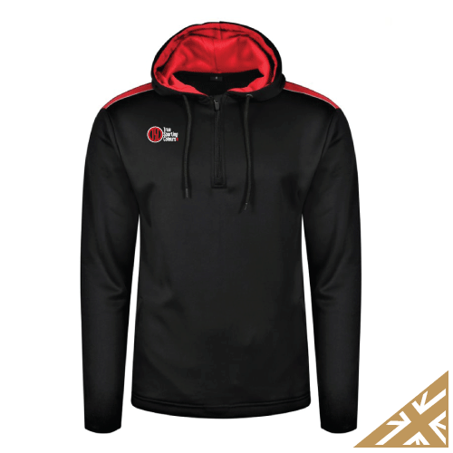HELIX HOODED SWEATSHIRT - Black/Red