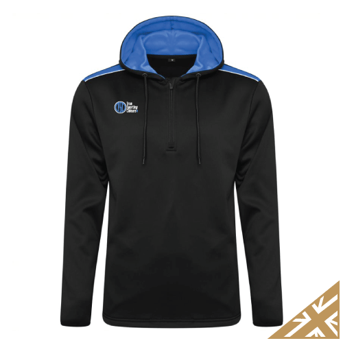 HELIX HOODED SWEATSHIRT - Black/Royal