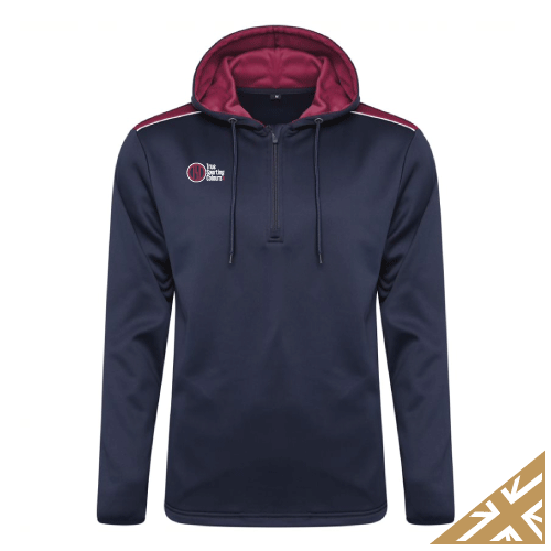 HELIX HOODED SWEATSHIRT - Navy/Maroon