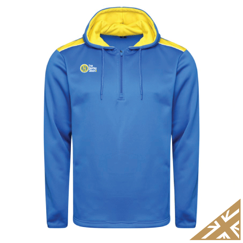 HELIX HOODED SWEATSHIRT - Royal/Yellow