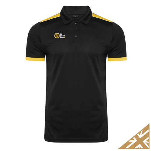 HELIX POLO SHIRT - Black/Amber