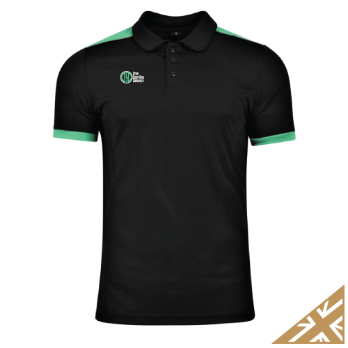HELIX POLO SHIRT - Black/Emerald