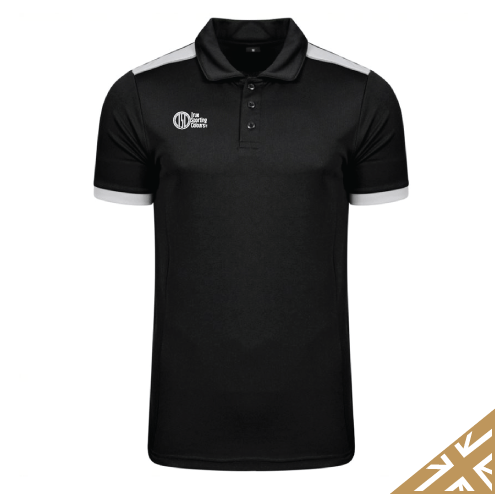 HELIX POLO SHIRT - Black/Silver