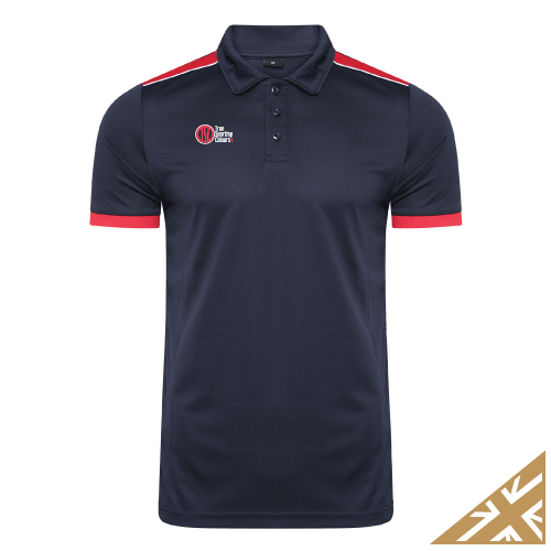 HELIX POLO SHIRT - Navy/Red