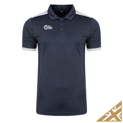 HELIX POLO SHIRT - Navy/Silver