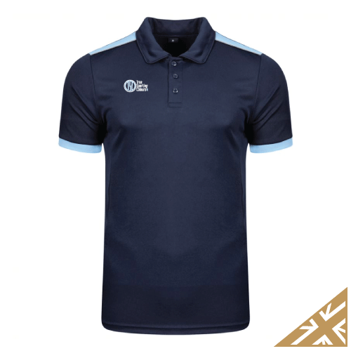 HELIX POLO SHIRT - Navy/Sky