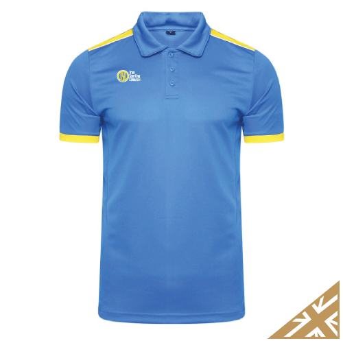 HELIX POLO SHIRT - Royal/Yellow
