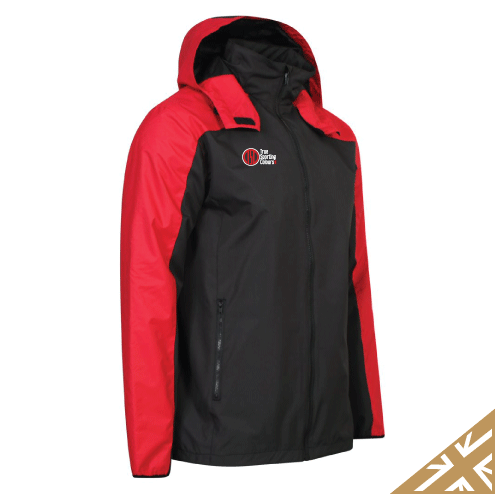 HELIX RAIN JACKET - Black/Red