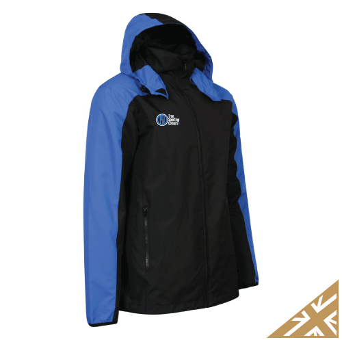 HELIX RAIN JACKET - Black/Royal