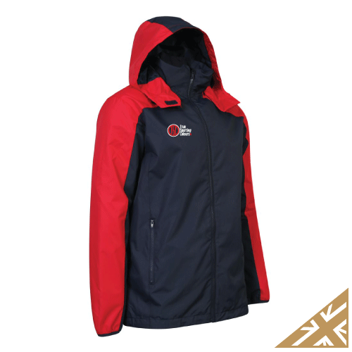 HELIX RAIN JACKET - Navy/Red