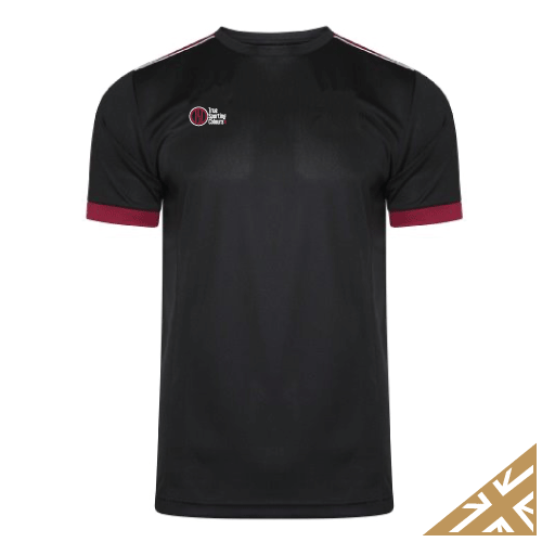 HELIX TRAINING SHIRT - Black/Maroon
