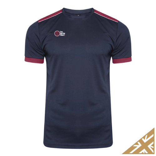 HELIX TRAINING SHIRT - Navy/Maroon