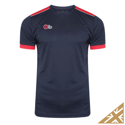 HELIX TRAINING SHIRT - Navy/Red