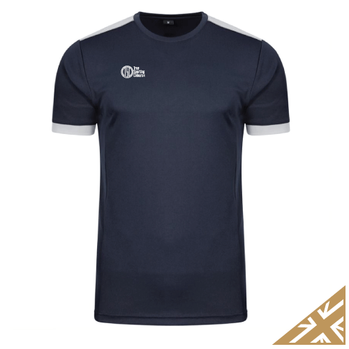 HELIX TRAINING SHIRT - Navy/Silver