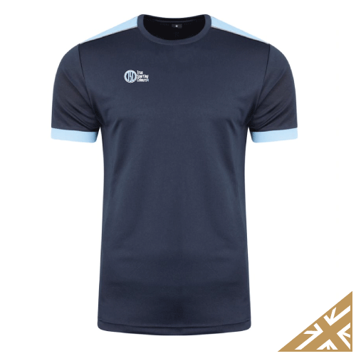 HELIX TRAINING SHIRT - Navy/Sky