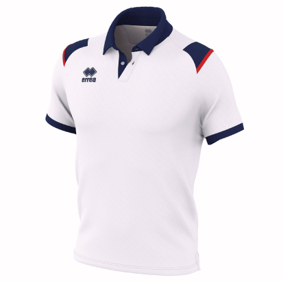 LEONOR POLO - White/Navy/Red