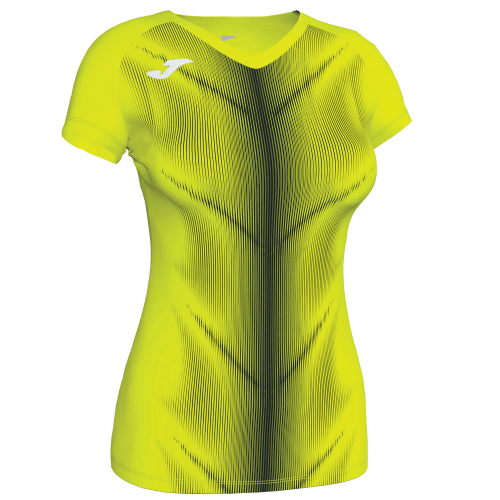 OLIMPIA (W) T-SHIRT - Yellow Fluor/Black