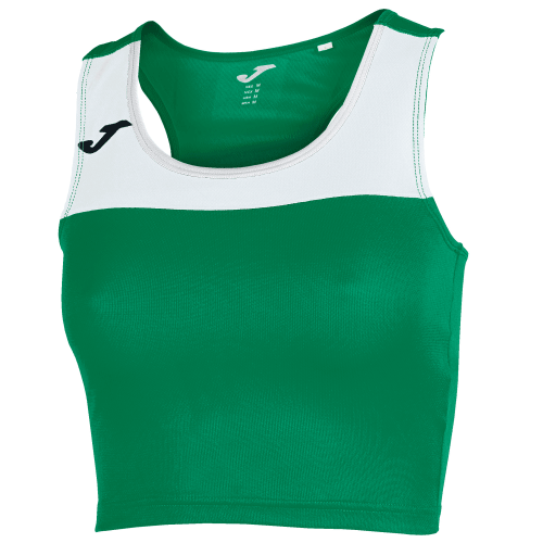RACE TANK TOP - Green Medium/White
