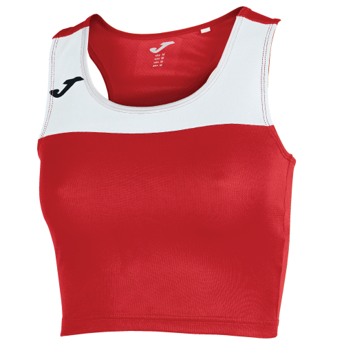 RACE TANK TOP - Red/White