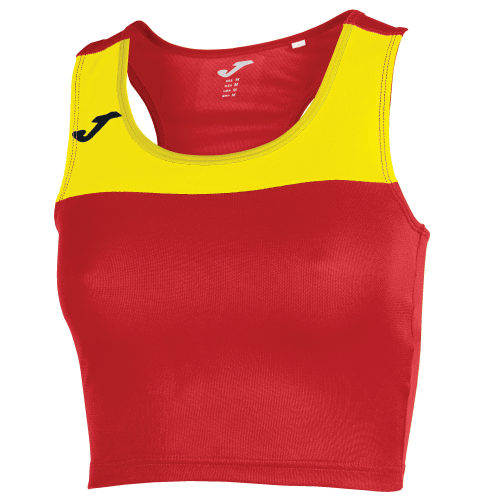 RACE TANK TOP - Red/Yellow
