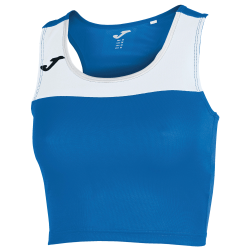 RACE TANK TOP - Royal/White